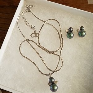 Dior Earrings & Necklace